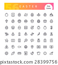 icon easter vector 28399756