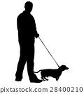 dog vector people 28400210