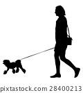dog vector people 28400213