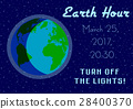 Earth Hour - global annual international event 28400370