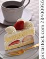 딸기 케잌과 커피 28400956