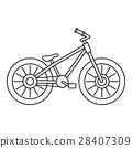 自行车 脚踏车 轮廓 28407309