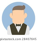Avatar man in suit icon, flat style 28407645