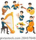 musician, cartoon, vector 28407646