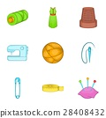 sewing, icon, vector 28408432