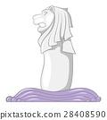 Merlion icon, cartoon style 28408590