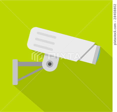 Security camera icon, flat style 28408802