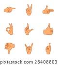 gestures icon vector 28408803