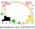 벡터, 피아노, 봄 28409550