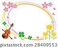矢量 小提琴 春天 28409553