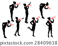 silhouette of business woman 28409638