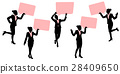 silhouette of business woman 28409650