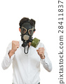 fine portrait of man with classic old mask gas 28411837