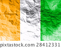 Cote d'ivoire flag 3D illustration symbol. 28412331