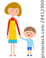 kid, younger, mother 28412960