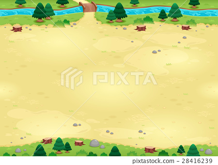 Nature background for games with endless sides. 28416239