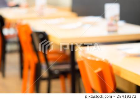 Abstract blur restaurant interior 28419272