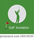 Golf invitation graphic design 28419295