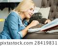 pet, cat, woman 28419831