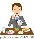 นักธุรกิจ,อาหารเช้า,กิน 28420630