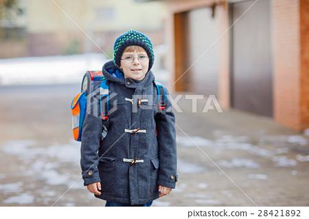 Little school kid boy of elementary class walking 28421892