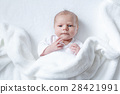 Portrait of cute adorable newborn baby child 28421991