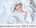 Portrait of cute adorable newborn baby child 28421993