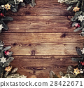 wooden board with decoration 28422671