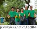 Group of environmental volunteers 28422864