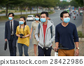 Asian people in medical masks 28422986