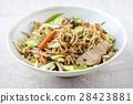 Pork Yakisoba in Bowl 28423881