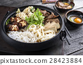 Sukiyaki in traditional Japanese Cast Iron Pot 28423884