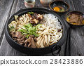 Sukiyaki in traditional Japanese Cast Iron Pot 28423886