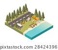 road, camp, lake 28424396