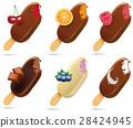 Lollipop Ice Cream popsicle in Chocolate Glaze  28424945