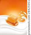 milk splash with caramel 28425051