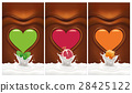 chococlate background with heart mint, pomegranate 28425122