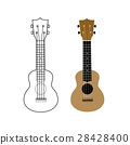 Ukulele vector illustration on white backgroiund 28428400