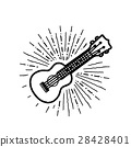 Ukulele vector illustration on white backgroiund 28428401