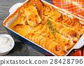奶油烤菜 土豆 马铃薯 28428796