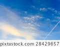 blue sky, clouds, vapor trail 28429657