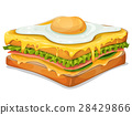 French Sandwich With Fried Egg 28429866
