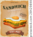 Grunge And Vintage Sandwich With Fried Egg Poster 28429890