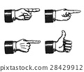 Pointing Finger And Thumbs Up Sign 28429912