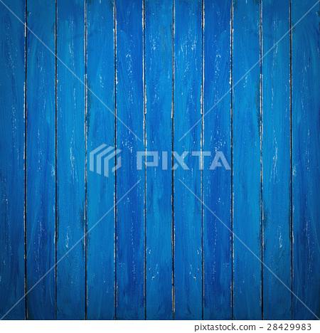 Blue Wooden Background 28429983