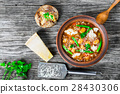 Minestrone vegetable soup 28430306