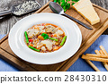 Minestrone vegetable soup 28430310