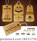 Shops Vintage Labels Set 28431736