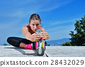 stretching, woman, exercise 28432029