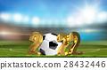 soccer 2022 golden 3d render 28432446